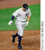 Купить «The New York Yankees take on the New York Mets during game 2 of the 2017 Subway Series at Yankee Stadium Featuring: Aaron Judge Where: Bronx, New York, United States When: 15 Aug 2017 Credit: WENN.com», фото № 30443862, снято 15 августа 2017 г. (c) age Fotostock / Фотобанк Лори