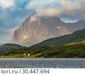 Купить «Fjord summer cloudy view (Norway)», фото № 30447694, снято 14 июля 2013 г. (c) Юрий Брыкайло / Фотобанк Лори