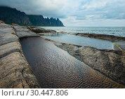 Купить «Summer Senja coast (Jagged Ersfjord, Norway, polar )», фото № 30447806, снято 10 июля 2013 г. (c) Юрий Брыкайло / Фотобанк Лори