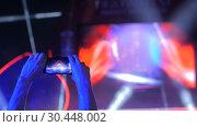 Hands silhouette recording video of live music rock concert with smartphone. Стоковое видео, видеограф Aleksey Popov / Фотобанк Лори