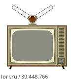 Old analog TV. Стоковая иллюстрация, иллюстратор Сергей Лаврентьев / Фотобанк Лори