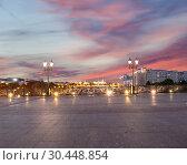 Купить «Kremlin (at night), Moscow, Russia--the most popular view of Moscow», фото № 30448854, снято 17 августа 2018 г. (c) Владимир Журавлев / Фотобанк Лори