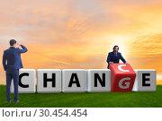 Купить «Businessman taking chance for change», фото № 30454454, снято 13 декабря 2019 г. (c) Elnur / Фотобанк Лори