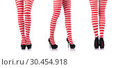 Купить «Woman with long legs and stockings», фото № 30454918, снято 28 ноября 2012 г. (c) Elnur / Фотобанк Лори