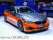 Купить «Alpina B4 S Bi-Turbo Coupe AWD Edition 99», фото № 30456210, снято 10 марта 2019 г. (c) Art Konovalov / Фотобанк Лори