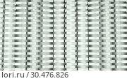 Купить «Geometry abstraction - rows of rectangles objects - many geometrical shapes, 3d computer generated background», иллюстрация № 30476826 (c) Роман Будников / Фотобанк Лори