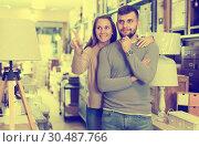 Купить «Couple in antique furnishings store», фото № 30487766, снято 9 ноября 2017 г. (c) Яков Филимонов / Фотобанк Лори