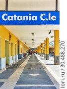 Купить «Catania Centrale Station», фото № 30488270, снято 17 марта 2019 г. (c) Роман Сигаев / Фотобанк Лори