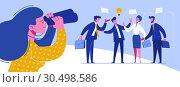 Купить «Businessman Conference Workplace Negotiations», иллюстрация № 30498586 (c) Olga Petrakova / Фотобанк Лори