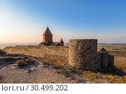 Купить «Armenia, Ararat valley, Khor Virap monastery near the border with Turkey and mount Ararat», фото № 30499202, снято 23 сентября 2018 г. (c) Наталья Волкова / Фотобанк Лори
