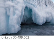 Fabulous ice cave on lake Baikal. Eastern Siberia, Russia (2019 год). Стоковое фото, фотограф Наталья Волкова / Фотобанк Лори