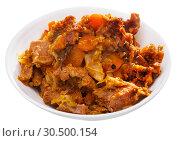 Купить «Cabbage stewed with pork», фото № 30500154, снято 17 июля 2019 г. (c) Яков Филимонов / Фотобанк Лори