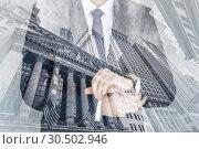 Купить «Corporate business, finance, stock market and economic prosperity conceptul collage.», фото № 30502946, снято 8 мая 2018 г. (c) Matej Kastelic / Фотобанк Лори