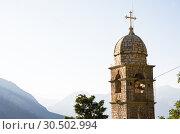 Купить «St. John and Chapel of Salvation of Virgin on Mount Pestingrad against picturesque bay. Kotor. Montenegro», фото № 30502994, снято 11 июля 2015 г. (c) Papoyan Irina / Фотобанк Лори