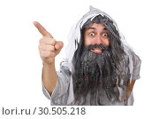 Funny old man isolated on white. Стоковое фото, фотограф Elnur / Фотобанк Лори