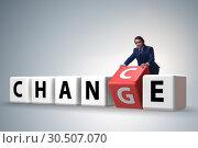 Купить «Businessman taking chance for change», фото № 30507070, снято 13 декабря 2019 г. (c) Elnur / Фотобанк Лори