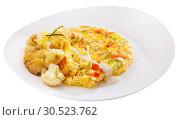Купить «Omelet with cauliflower», фото № 30523762, снято 23 апреля 2019 г. (c) Яков Филимонов / Фотобанк Лори