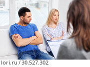 Купить «couple with problem at family psychologist office», фото № 30527302, снято 9 февраля 2014 г. (c) Syda Productions / Фотобанк Лори