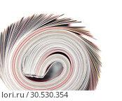 Купить «Rolled up magazine», фото № 30530354, снято 20 апреля 2010 г. (c) Tryapitsyn Sergiy / Фотобанк Лори