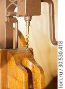 Wooden corkscrew. Стоковое фото, фотограф Tryapitsyn Sergiy / Фотобанк Лори