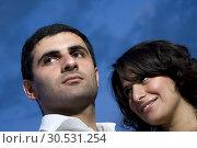 Happy young couple. Стоковое фото, фотограф Tryapitsyn Sergiy / Фотобанк Лори