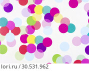 Color circles gift paper. Стоковое фото, фотограф Tryapitsyn Sergiy / Фотобанк Лори