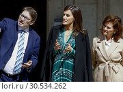 Купить «Queen Letizia of Spain attends the Inauguration of the accessibility works carried out in the Real Monasterio de la Encarnacion on April 10, 2019 in Madrid, Spain.10/04/2019.», фото № 30534262, снято 10 апреля 2019 г. (c) age Fotostock / Фотобанк Лори