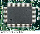 Купить «Computer electronic chip», фото № 30536466, снято 25 февраля 2011 г. (c) Tryapitsyn Sergiy / Фотобанк Лори