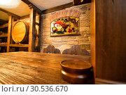 Купить «Interior of old wines cellar», фото № 30536670, снято 17 марта 2011 г. (c) Tryapitsyn Sergiy / Фотобанк Лори