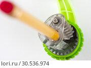 Pencil sharpener mechanism. Стоковое фото, фотограф Tryapitsyn Sergiy / Фотобанк Лори