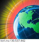 Купить «Colorful glass globe with shining», фото № 30537442, снято 24 июня 2011 г. (c) Tryapitsyn Sergiy / Фотобанк Лори