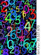Купить «Abstract colorful numbers», фото № 30537670, снято 9 сентября 2011 г. (c) Tryapitsyn Sergiy / Фотобанк Лори