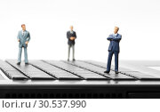Купить «Miniature figurines of businessman», фото № 30537990, снято 2 марта 2012 г. (c) Tryapitsyn Sergiy / Фотобанк Лори