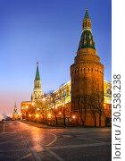Купить «Мал-мала-меньше Towers of the Moscow Kremlin», фото № 30538238, снято 1 марта 2014 г. (c) Baturina Yuliya / Фотобанк Лори