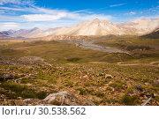 View of Andes mountains, Valle Hermoso (2017 год). Стоковое фото, фотограф Яков Филимонов / Фотобанк Лори