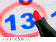 Tip of red marker. Стоковое фото, фотограф Tryapitsyn Sergiy / Фотобанк Лори