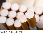 Купить «Cigarettes in pack», фото № 30538938, снято 9 августа 2012 г. (c) Tryapitsyn Sergiy / Фотобанк Лори