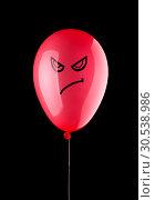 Купить «Angry red balloon», фото № 30538986, снято 10 августа 2012 г. (c) Tryapitsyn Sergiy / Фотобанк Лори