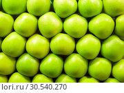 Купить «Fresh green apples», фото № 30540270, снято 6 июля 2013 г. (c) Tryapitsyn Sergiy / Фотобанк Лори