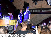 Купить «Fan party of german RTL2 TV series 'Berlin Tag und Nacht' at Matrix Club in Kreuzberg. Featuring: Lutz Schweigel aka Joe Moeller, Falko Ochsenknecht aka...», фото № 30543654, снято 24 июня 2017 г. (c) age Fotostock / Фотобанк Лори
