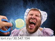 Купить «Man weared as baby», фото № 30547194, снято 19 ноября 2013 г. (c) Tryapitsyn Sergiy / Фотобанк Лори