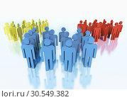 Купить «Groups of people - business team concept», фото № 30549382, снято 28 февраля 2020 г. (c) Tryapitsyn Sergiy / Фотобанк Лори