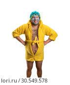 Strange man with face pack. Стоковое фото, фотограф Tryapitsyn Sergiy / Фотобанк Лори