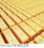 Купить «Lots of gold bars», фото № 30550318, снято 8 декабря 2019 г. (c) Tryapitsyn Sergiy / Фотобанк Лори