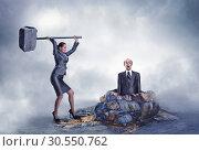 Купить «Business violence», фото № 30550762, снято 25 декабря 2014 г. (c) Tryapitsyn Sergiy / Фотобанк Лори