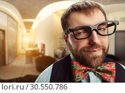 Купить «Strange nerd», фото № 30550786, снято 26 декабря 2014 г. (c) Tryapitsyn Sergiy / Фотобанк Лори