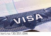 Visa in passport. Стоковое фото, фотограф Tryapitsyn Sergiy / Фотобанк Лори