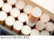 Купить «Pack of cigarettes», фото № 30551810, снято 9 августа 2012 г. (c) Tryapitsyn Sergiy / Фотобанк Лори