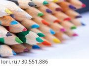 Set of rainbow pencils. Стоковое фото, фотограф Tryapitsyn Sergiy / Фотобанк Лори