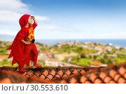 Купить «Superhero little girl», фото № 30553610, снято 8 августа 2015 г. (c) Tryapitsyn Sergiy / Фотобанк Лори